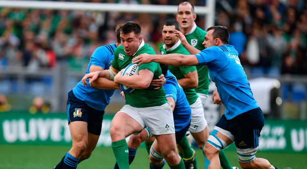 Rassie Erasmus: congratulations must go to Niall Scannell, who made his international debut against Italy last weekend. He showed the occasion didn't get to him. Photo: Sportsfile