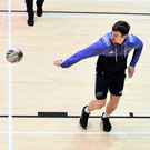 Darren Sweetnam in action during an indoor session at UL. Photo: Sportsfile