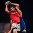 Jean Kleyn in action for Munster in a lineout.