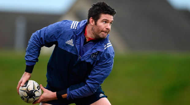Concentration is the name of the game for Billy Holland in training. Photo: SPORTSFILE