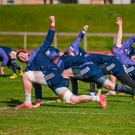 Munster players including Billy Holland (left) are put through their paces