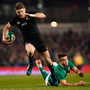 Beauden Barrett makes a run against Ireland. Picture: Sportsfile