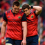 A disappointed CJ Stander and Ian Keatley following last weekend's semi-final defeat. Photo: Sportsfile
