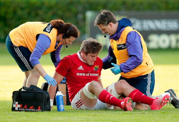 Ronan O'Mahony was unfortunate to pick up a leg fracture in the match against Treviso. Photo: Sportsfile