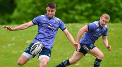 Concentration is the name of the game for Conor Murray during training at the University of Limerick