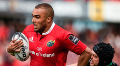 Simon Zebo, pictured here getting away from Dan Evans of Ospreys, will be hoping to produce another big performance in the final. Photo: Sportsfile