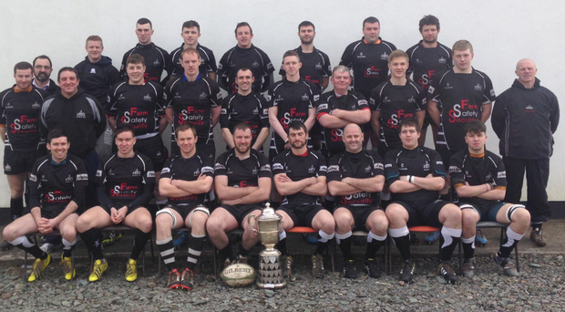 The Galbally team with the Garryowen Cup