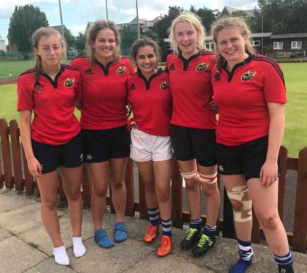 Fethard's Claire Bennet, Jennifer Fogarty, Sarah Garret, Kate Molloy and Dorothy Wall who were all included in the Munster U-18 squad