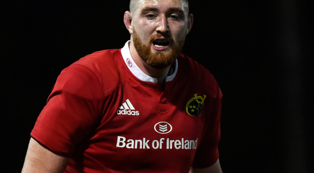 Darren O'Shea in action for Munster A in the British and Irish Cup semi-final clash against Ealing Trailfinder in March. Photo: Sportsfile