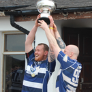 Main: Waterford's Ben Duggan and Nicky Jacob lift the Ballyrandle Cup last year
