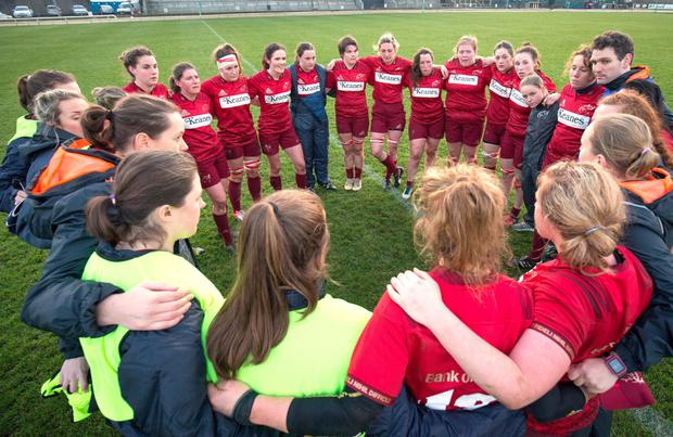 The Munster Women's team following the loss to Connacht