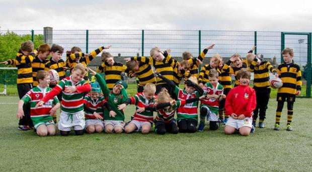 Young Sunday's Well players learning the ropes with the club's minis section