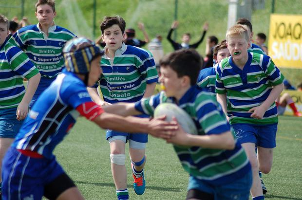The club's youngsters in the heat of battle at a recent blitz competition
