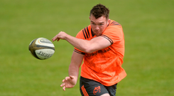 Peter O'Mahony hard at work in training