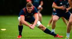 Tommy O'Donnell going through his stretches. Picture: Diarmuid Greene/Sportsfile