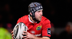 Duncan Williams partners Joey Carbery at half-back for Munster this afternoon.