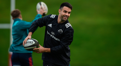 Conor Murray was back in training this week and should be fit to return to action soon. Photo: SPORTSFILE