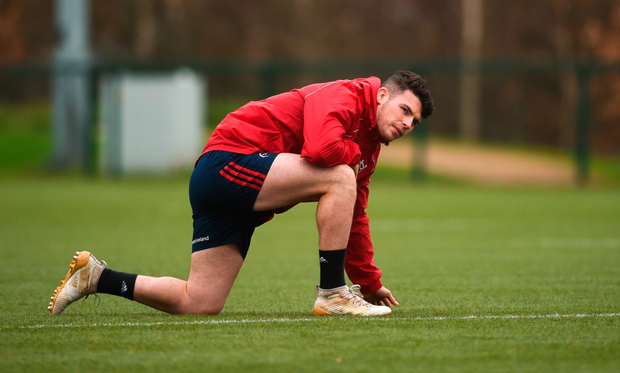 Dream come true: Calvin Nash's Munster career is in its infancy but he hopes to have many memorable occasions in the famous red jersey. Photo: Sportsfile