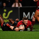 Andrew Conway returned to action for Munster scoring the second try against Southern Kings. Photo: Sportsfile