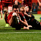 Jean Kleyn scores a try against Southern Kings last month. Photo: Sportsfile