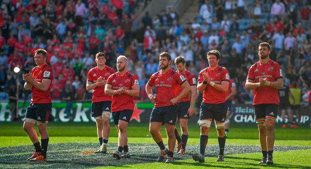 Munster players will hope to bounce back from last week's semi-final defeat when hosting Connacht in Thomond Park tomorrow. Photo: Brendan Moran/Sportsfile