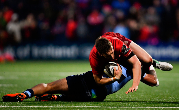 Darren Sweetnam has been on song for Munster of late. Photo: SPORTSFILE