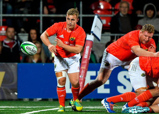 Craig Casey in action for Munster during the pre-season friendly against London Irish last month