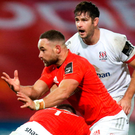 Rising Red: Alby Mathewson impressed against Ulster at Thomond Park last weekend and the Kiwi scrum-half can play his part against Ospreys tomorrow. Photo: Sportsfile