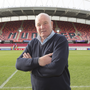 Clockwise from main: Ballina-Killaloe club president Brendan Foley in Thomond Park where he was part of the legendary Munster team who stunned the All Blacks in 1978