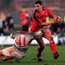 David Wallace in action against Rory Greenslades Jones of Pontypridd at Sardis Road in 2000. Photo: Matt Browne/Sportsfile