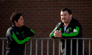 Munster performance nutritionist Dr Catherine Norton with former Munster hooker Damien Varley earlier this year