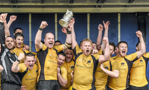 Ashbourne RFC celebrate winning the Provincial Towns Cup last year