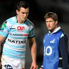Jonathan Sexton of Racing Metro, and assistant coach Ronan O'Gara