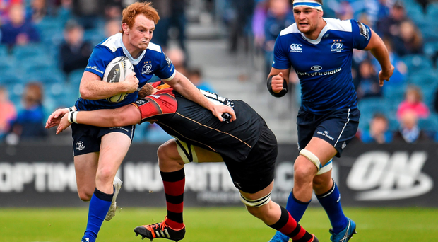Cathal Marsh takes on the Dragons defence