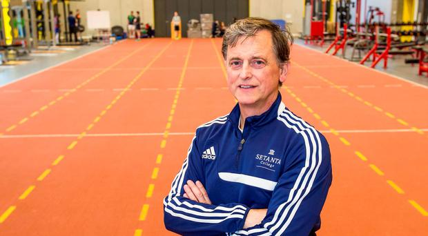 Dr Liam Hennessy at the Setanta College sports lab and track area at the Limerick IT Campus in Thurles
