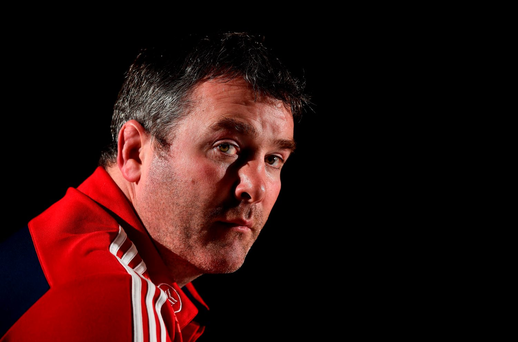 10 November 2015; Munster head coach Anthony Foley speaking during a press conference. Castletroy Park Hotel, Limerick. Picture credit: Diarmuid Greene / SPORTSFILE