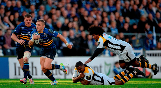 Outstanding talent: Ian Madigan escapes two tackles