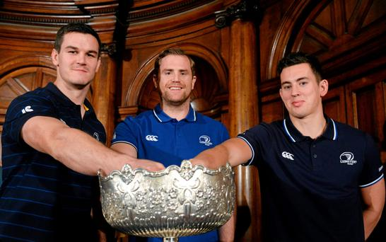 Star players Johnny Sexton, Jamie Heaslip and Noel Reid land a hand at the Leinster Schools Cups draws this week