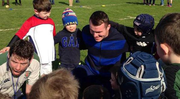 Leinster Academy star Peter Dooley paid a visit to Birr RFC