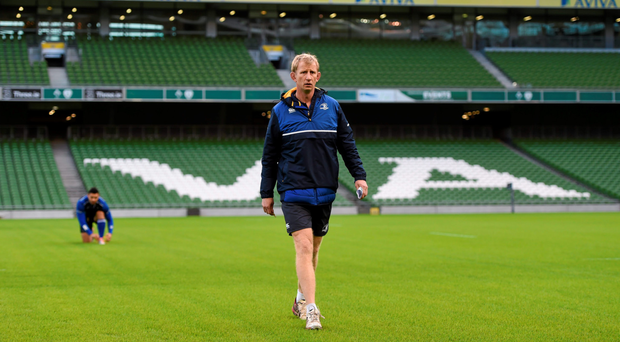 Leinster coach Leo Cullen during training at the Aviva Stadium Picture: Stephen McCarthy/Sportsfile