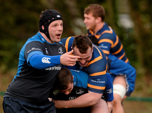 Leinster's Mike Ross in action during training. Photo: Sportsfile