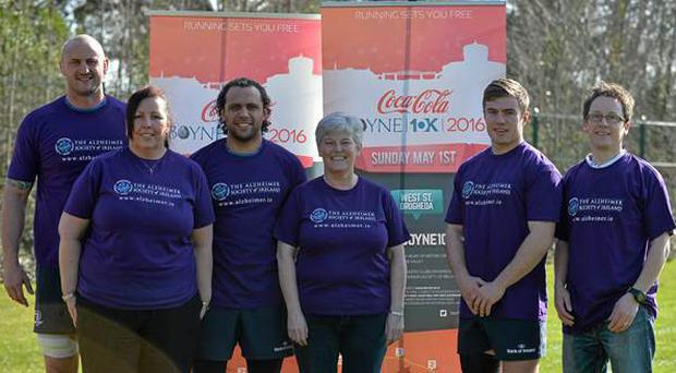 The Alzheimer Society of Ireland is a charity partner of Leinster Rugby for 2015/'16 and the boys in blue took some time out of their busy training schedule to encourage members of the public to run, walk or crawl the famous scenic Coca-Cola 10km run