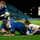 Sean Cronin scores a try against Zebre (SPORTSFILE)