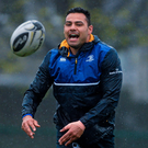 Leinster's Ben Te'o during squad training this week at UCD Photo: Sportsfile