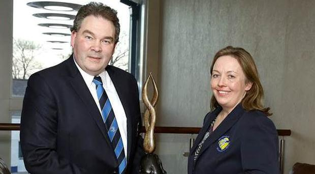 Robert McDermott with chairperson Kate Ross