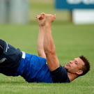 Zane Kirchner goes through a stretching routine during Leinster training Picture: MATT BROWNE/SPORTSFILE