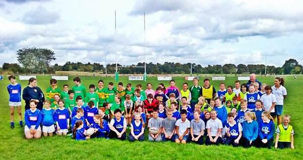 Over 80 pupils took part in the Tullow Rugby Club blitz
