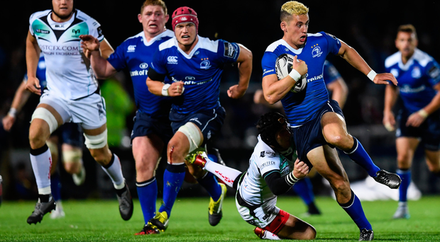Noel Reid is tackled by Sam Davies of Ospreys during the last month's Guinness Pro12 clash