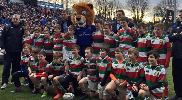 Bective Rangers youngsters enjoy their appearance at the RDS