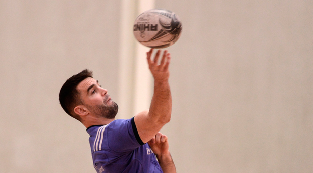 Conor Murray turns on the style during training. Photo: Sportsfile